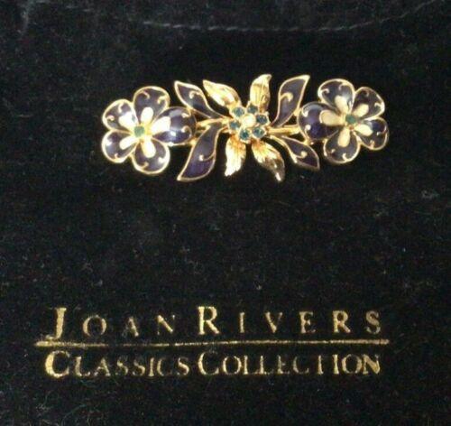 "1999 Joan Rivers Goldtone Enamel 2"" Pansy Flower … - image 1"