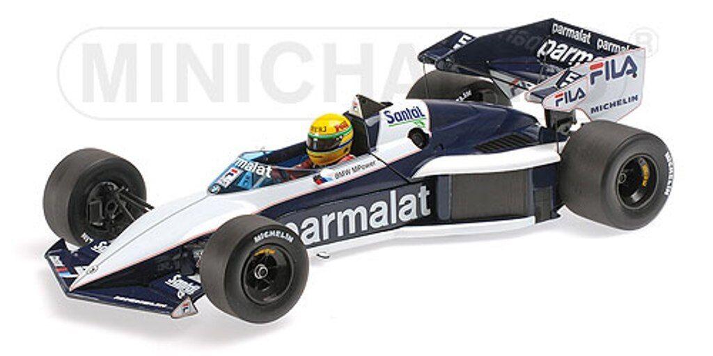 MINICHAMPS 540 831899 BRABHAM BMW BT52B F1 TEST car Senna Paul Ricard 1983 1 18