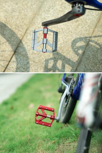 PROMEND New Aluminum 3 Bearings Bicycle Pedal MTB Road Bike Flat Platform Pedals