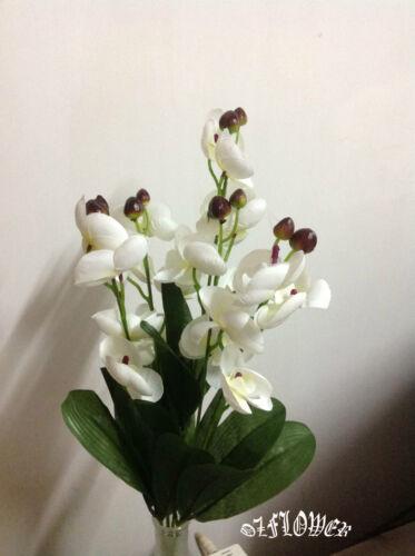 Artificial plants /& flowers Wedding flower Phalaenopsis Orchid bouquet Bush F82