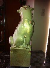 Large Vintage Porcelain Foo Lion Tomb Guardian