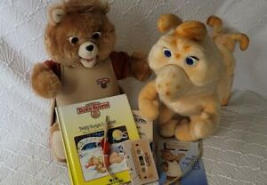 Vintage Teddy Ruxpin And Grubby Lot WITH ANIMATION CORD AND MORE