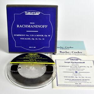 "Barclay-Crocker – DSM F 1007 - RACHMANINOFF - 7.5 ips, 7"" REEL"