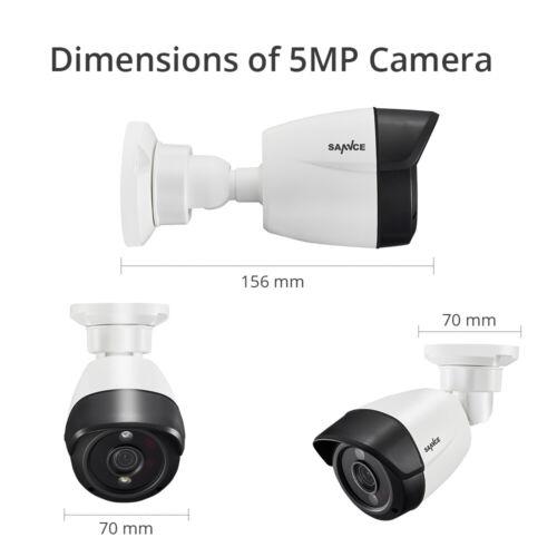 SANNCE Outdoor AI CCTV Camera Light Alert 8CH 5MP Lite DVR Home Security System