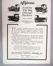 Autocar Truck PRINT AD - 1916 ~~ used by the big Chicago packers, trucks