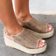 Women-039-s-Wedge-Heels-Espadrille-Flatform-Woven-Sandals-Ladies-Peep-Toe-Shoes-Size thumbnail 6