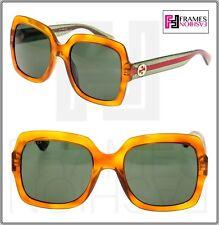 3d5318e82c Gucci Urban GG 0165o Eyeglasses 004 Havana 100 Authentic