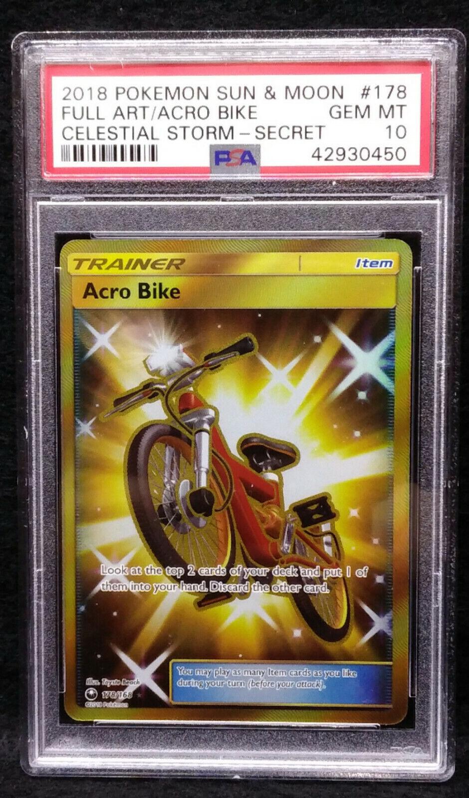 Pokemon TCG Acro Bike 178  168 Celestial Storm PSA 10 Gem Mint 10 Secret