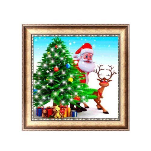 Full Drill Santa Claus DIY 5D Diamond Painting Cross Stitch Kits Home Christmas