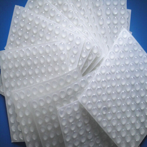 100x Self-Adhesive Rubber Feet Small Round Clear Silicone Bumpers Stop Dampers