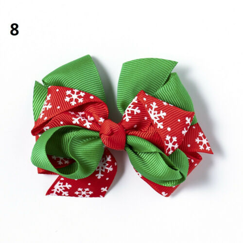 2020 Christmas Bowknot Hairpin Hair Bow Clips Barrette Xmas Decor For Kids Girls