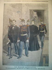 JUSTICE-CRIME-MALLE-SANGLANTE-DE-COUVILLE-PRISON-POLICIER-LE-PETIT-JOURNAL-1896