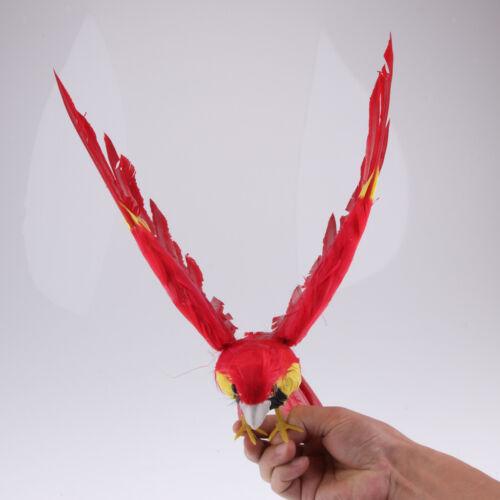 Plastik öffnen geflügelte Papageien Garten Statue kreative Dekorations