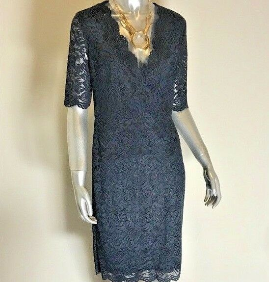 17973f7211 NWT Ivanka Trump Trump Trump Navy bluee Lace Dress 547ab0 ...