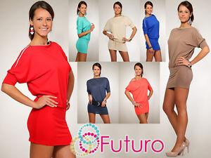 Sensual-Mujer-Vestido-Con-Cremallera-Cuello-Barco-Tunica-Estilo-Talla-8-12-8908