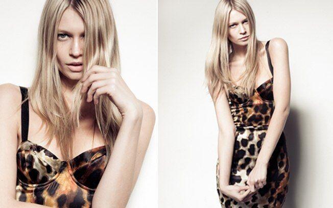 Topshop Celebrity Leopard Smudge Bodycon Corset Pencil Dress - Größe 6