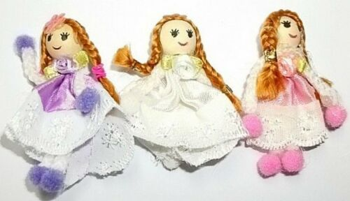 3 Pretty Dolly Cotton Dressed Embellishments New