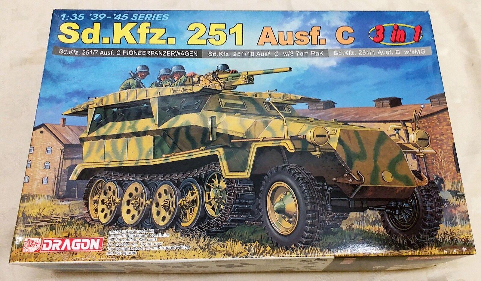 DRAGON 1 35 Sd.Kfz.251 Ausf.C 3-in-1 Model Kit 6224  1  7 Pioneerpanzerwagen  10