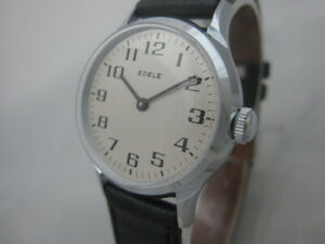 NOS-NEW-VINTAGE-MECHANICAL-HAND-WINDING-SHOCKPROOF-EDELE-MEN-039-S-ANALOG-WATCH-60-039