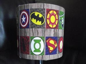Image Is Loading SUPERHERO LOGO TOUCH LAMP Batman Superman Captain America