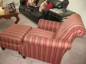 Image Is Loading Bernhardt Chair And Ottoman See Description