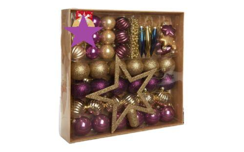 Nouveau Magnifique Babiole complet Décoration Pack 50pk-apporte élégance à votre arbre