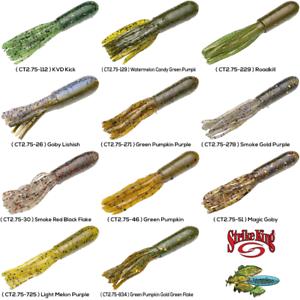 Strike King BT2.75-63 Bitsy Tube Pumpkin//Red//Green Flake