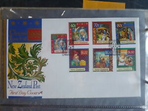 NEW-ZEALAND-1998-CHRISTMAS-SET-OF-7-STAMPS-FDC-FIRST-DAY-COVER