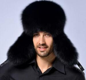 New Men s Winter Warm Fur Russian Hat Trapper Ushanka Cossack Ski ... c412c1851682