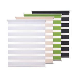 Doppelrollo klemmfix ohne Bohren Duo Rollo easyfix Fenster Tür Seitenzug 70x150