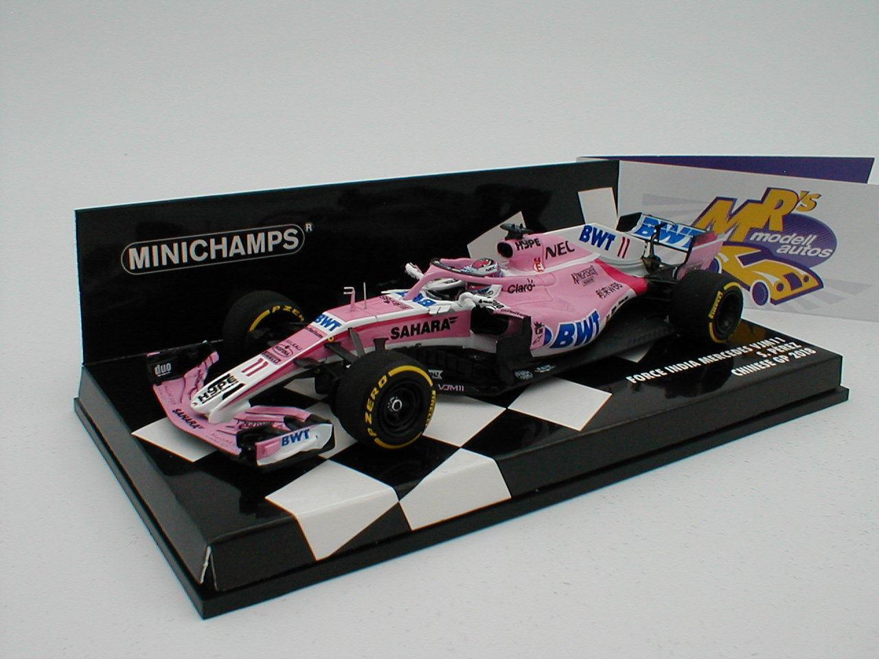 Minichamps 417180011 - FORCE India F1 Mercedes Team 2018   Sergio Perez   1 43