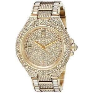26b299320072 Michael Kors MK5720 Women s Camille Gold Tone Pave Crystal Glitz ...