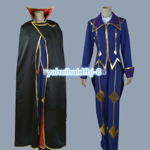 Code Geass Lelouch of the Rebellion ZERO Uniform Cosplay Costume cloak