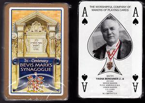 PC1. Cards - Yasha Beresiner, Master WCMP Bevis Marks Synagogue 300th Anniv 2001