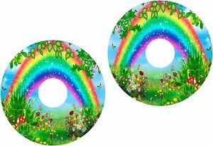 Wheelchair-Spoke-Guard-Skins-Childrens-Rainbow-View-Mobility-Sticker-181