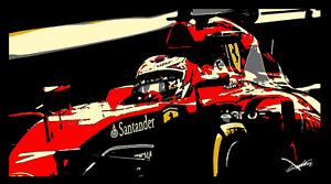 Michael-Schumacher-Ferrari-Formula-1-Art-Print-Glossy-8x6-Inches-Hologram-F1