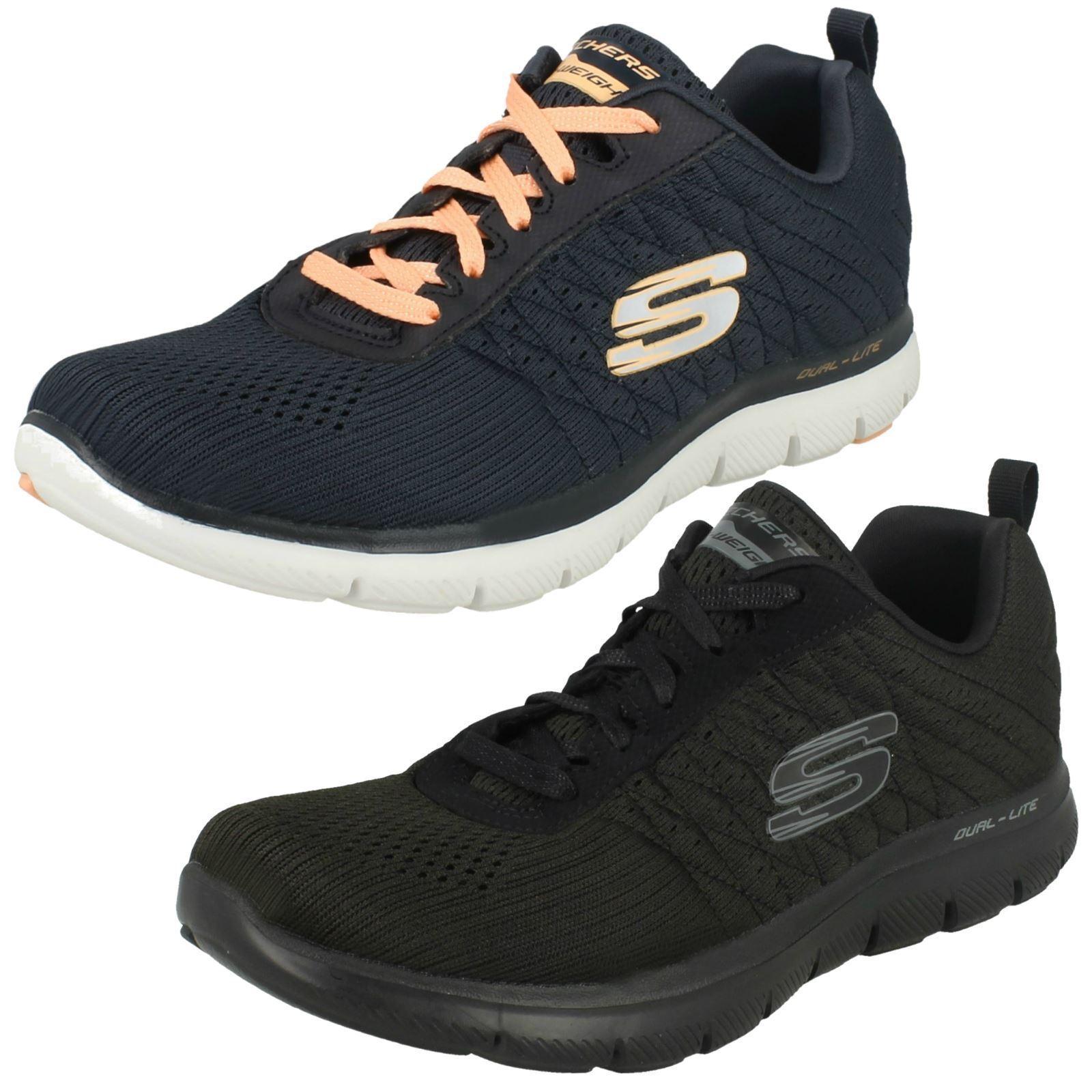 Zapatos promocionales para hombres y mujeres Ladies Skechers 12757 Flex Appeal 2.0 - Break Free Lace Up Trainers