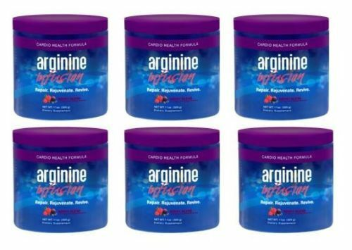 Arginine Infusion Natural Formula for Cardio Health (6 Jars)