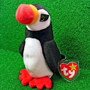 Ty Beanie Baby Puffer The Puffin 1997 Retired PVC Plush Toy Bird ... db4cd4e5cbed
