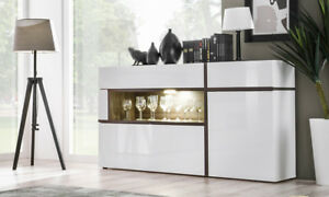 Image Is Loading SB Chandler Contemporary White Sideboard Dining Room Buffet