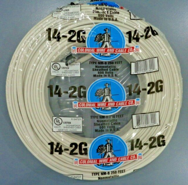 NEW 100/' 6//3 W//GROUND NM-B ROMEX HOUSE WIRE//CABLE