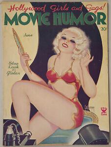 Rare Spicy Pulp June '35 Movie Humor Magazine George Quintana Sexy Flapper Cover