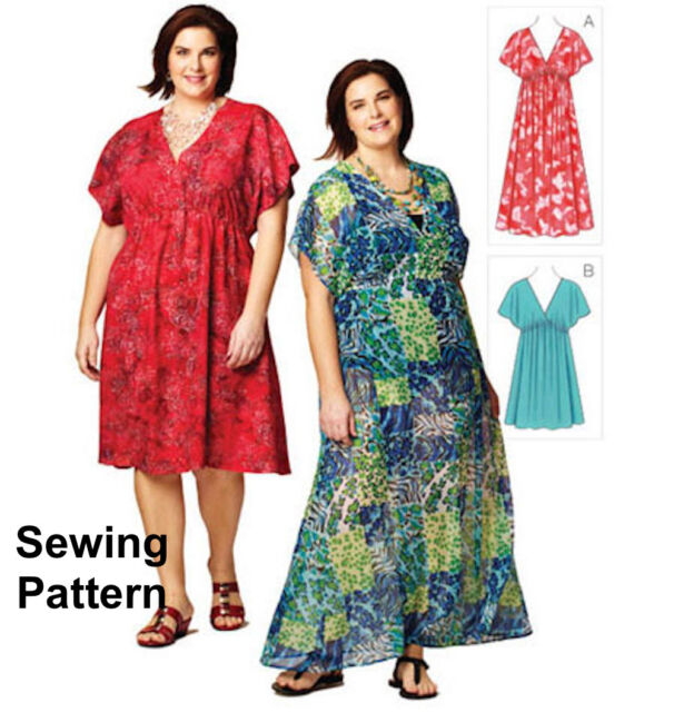 Kwik Sew K3868 Pattern Women\'s Plus Size Dresses 1X-4X BN