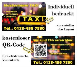 Details Zu Taxi Visitenkarten Mit Qr Code Layout Druck Schnell Preiswert Qualitativ E