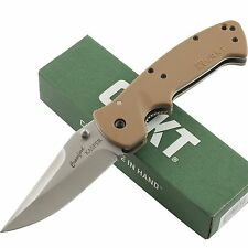 CRKT Crawford Kasper Desert Tan Zytel Tactical Linerlock Pocket Knife CR6773D