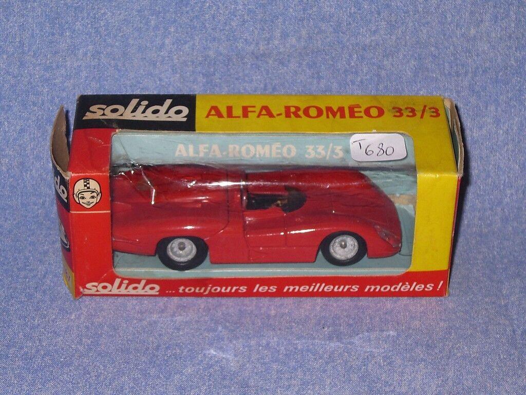 T680 SOLIDO ALFA ROMEO 33/3 Ref 187 1/43 Chassis 04/71 en boite | élégante