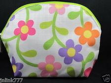 New CLINIQUE Cosmetic  Case-Lilac Pink  Yellow Florals
