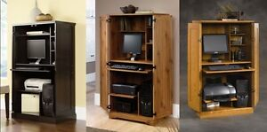 Image Is Loading SPACE SAVING HOME OFFICE COMPUTER DESK ARMOIRE CABINET