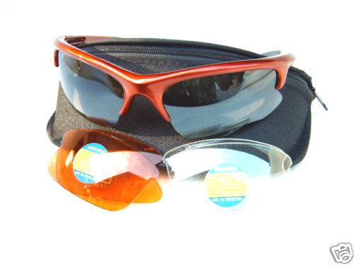 inkl 3 Wechselgläser Ravs Unisex Sportbrille Radbrille  Schutzbrille im Set