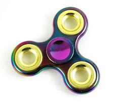 Rainbow Plated Anti Stress EDC Fidget Toy Finger Hand Spinner Metallic Autism